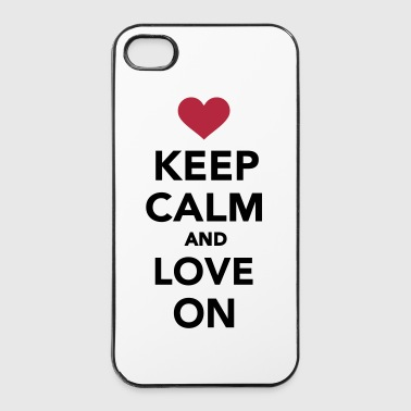 Paare Keep calm and love on - iPhone 4/4s Hard Case