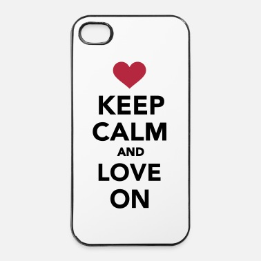 Paare Keep calm and love on - iPhone 4 & 4s Hülle