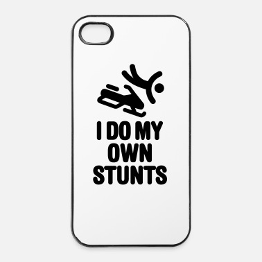 Male I do my own stunts - snowmobile - Custodia rigida per iPhone 4/4s