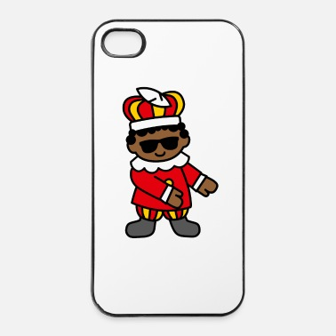 Décembre Zwarte Piet Père Fouettard Floss Dance Flossing  - Coque rigide iPhone 4/4s