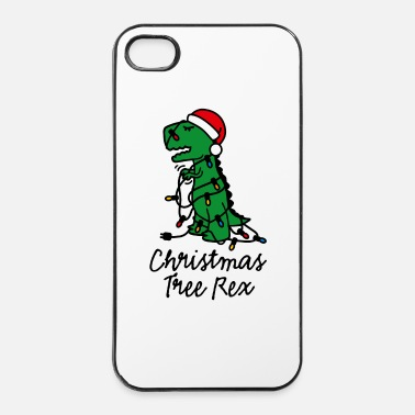 Lumière Christmas tree rex ugly xmas Sapin de Noël dino - Coque rigide iPhone 4/4s
