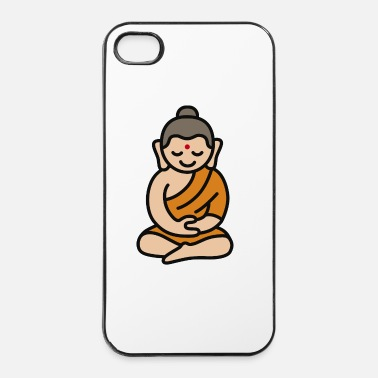 Zen Buddha Cartoon - iPhone 4/4s hard case
