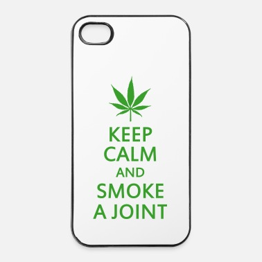 Relax keep calm and smoke a joint - Custodia rigida per iPhone 4/4s