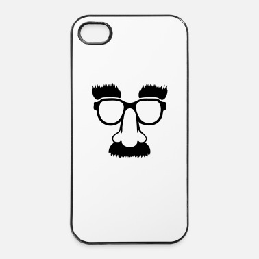 Nenä Groucho mask - nerd glasses - iPhone 4/4s kovakotelo