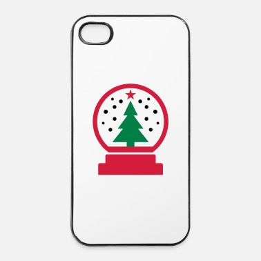 Bouger Christmas globe de neige - Coque rigide iPhone 4/4s