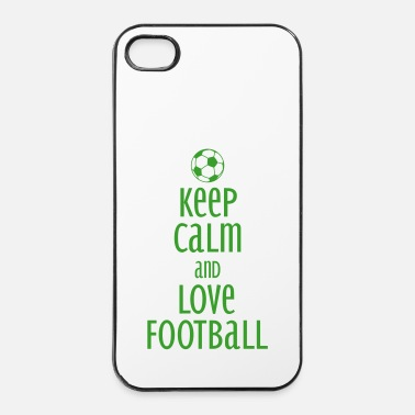 Fan keep calm and love football - Carcasa iPhone 4/4s