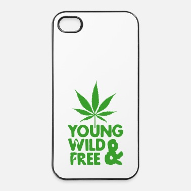 Trance young wild and free weed leaf - Coque rigide iPhone 4/4s