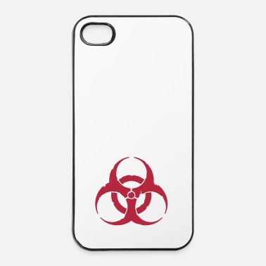Virus hazard worn out light / hazardous distressed - Custodia rigida per iPhone 4/4s