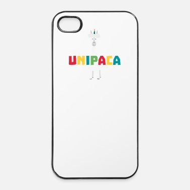 Mammifero Alpaca Rainbow Unicorn S0ghq - Custodia rigida per iPhone 4/4s