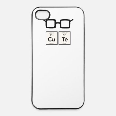 Element Schattige kleine scheikundig element nerd bril Swp34 - iPhone 4/4s hard case