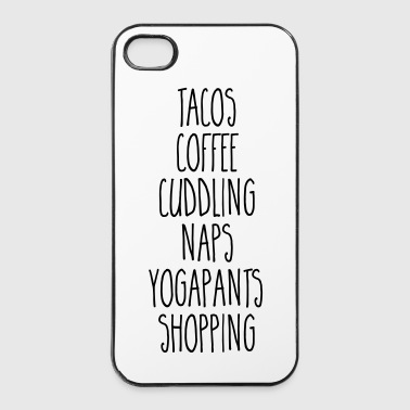 Tacos & Coffee Funny Quote - iPhone 4/4s Hard Case