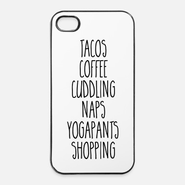 Shopping Tacos & Coffee Funny Quote - Coque rigide iPhone 4/4s