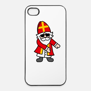 Dicembre Sinterklaas Saint Nicolais Floss Dance Flossing - Custodia rigida per iPhone 4/4s