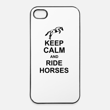 Sattel keep calm and rider horses kg10 - iPhone 4 & 4s Hülle