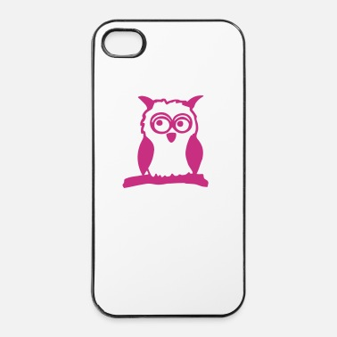 Kleine Kleine Eule (einfarbig) - iPhone 4/4s hard case