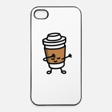 Hop Dab / dabbing cardboard coffee cup - Custodia rigida per iPhone 4/4s