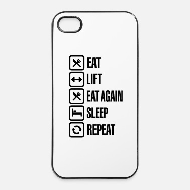 Terveys Eat - Lift - Eat again - Sleep - Repeat - iPhone 4/4s kovakotelo
