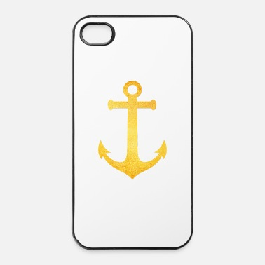 Style Cool Hipster Anchor (Golden Beach / beach - style) - Custodia rigida per iPhone 4/4s