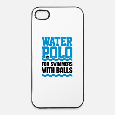 Rugby Water polo for swimmers with balls - pallanuoto - Custodia rigida per iPhone 4/4s