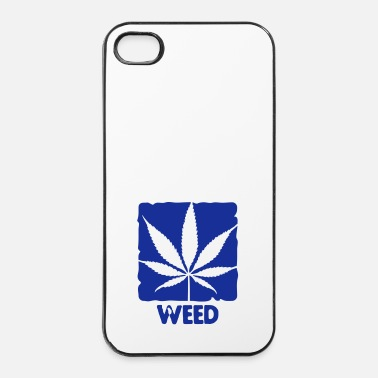 Leaf weed with boxed leaf - iPhone 4/4s hard case