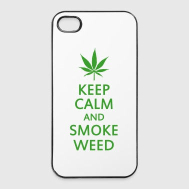 keep calm and smoke weed - iPhone 4/4s Hard Case