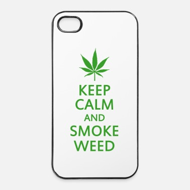 Holland keep calm and smoke weed - Hårt iPhone 4/4s-skal