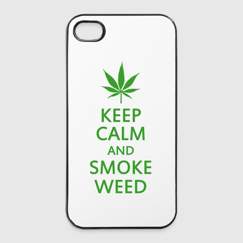 keep calm and smoke weed - Coque rigide iPhone 4/4s