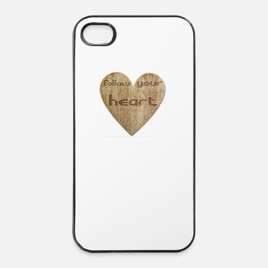 Sentiment Love - follow your heart - Coque rigide iPhone 4/4s