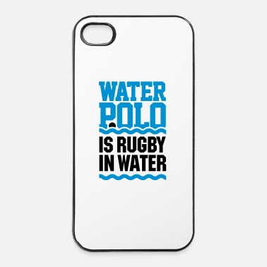 Rugby Water polo is rugby in water pallanuoto nuoto - Custodia rigida per iPhone 4/4s