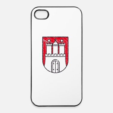 Wappen Illustriertes Hamburger Wappen - iPhone 4/4s Hard Case
