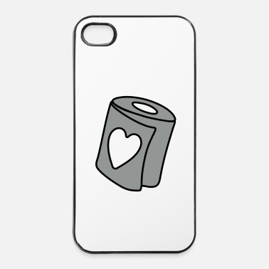 Papier papier toilette coeur - Coque rigide iPhone 4/4s