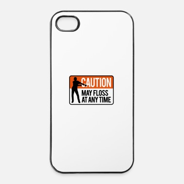 Terug Naar School Caution may floss at any time floss like a boss - iPhone 4/4s hard case