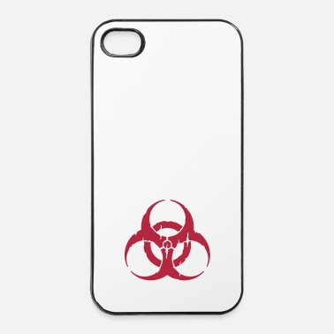 Virus hazard worn out / hazardous distressed - Custodia rigida per iPhone 4/4s
