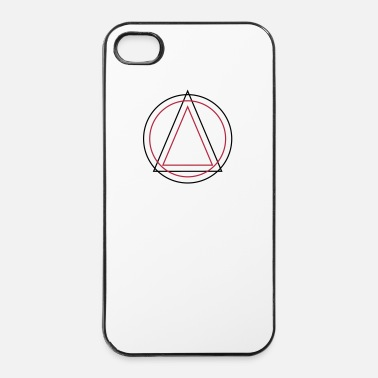 Driehoek Geometry - Triangle Circle - iPhone 4/4s hard case