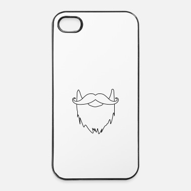 Moustache barbe et moustache - Coque rigide iPhone 4/4s