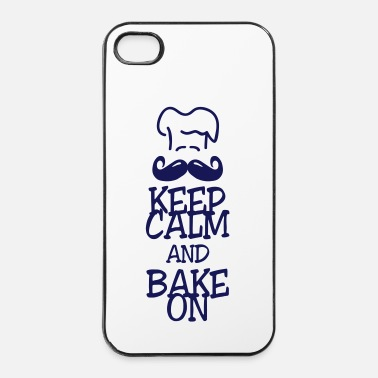Cupcake keep calm and bake on - Custodia rigida per iPhone 4/4s