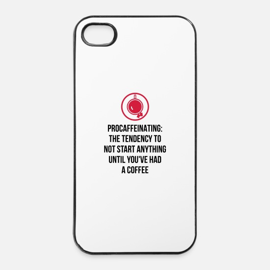 Coffee iPhone Cases - I am a coffee-loafers! - iPhone 4 & 4s Case white/black