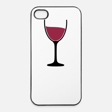 Roos Wijn glas wijn 2 c. - iPhone 4/4s hard case