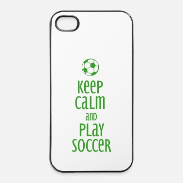 Soccer keep calm and play soccer - Coque rigide iPhone 4/4s
