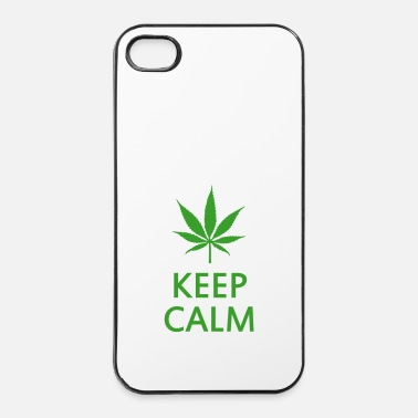 Cannabis keep calm and smoke cannabis weed pot - Custodia rigida per iPhone 4/4s