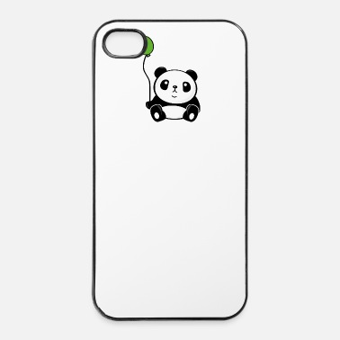 Ballon Panda bear met ballon - iPhone 4/4s hard case