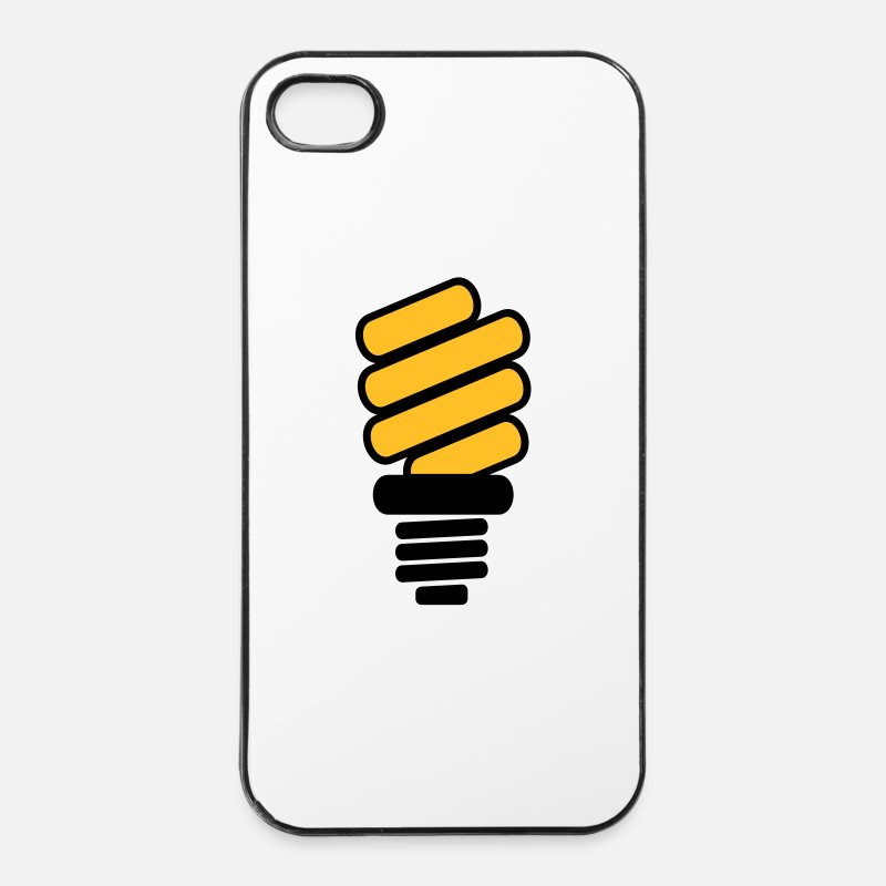 Light Bulb iPhone Cases - Light bulb - iPhone 4 & 4s Case white/black