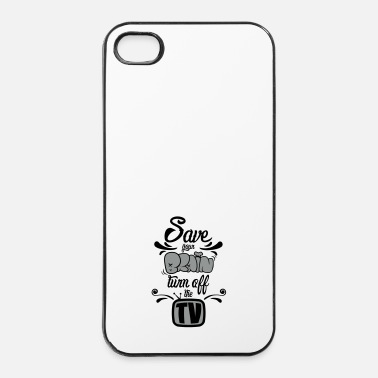Philosophie Save your brain - Coque rigide iPhone 4/4s