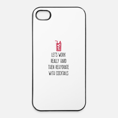 Engel Laten we hard werken en cocktails drinken - iPhone 4/4s hard case