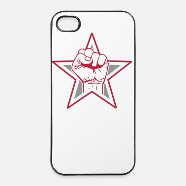 Kindergarten Star fist - fist freedom fighting freedom stars - iPhone 4 & 4s Case