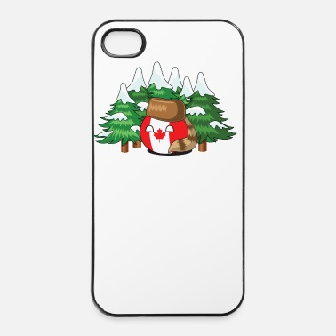 Country CanadaBall - iPhone 4/4s hard case