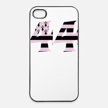 Pins 44 Bretagne drapeau - Coque rigide iPhone 4/4s
