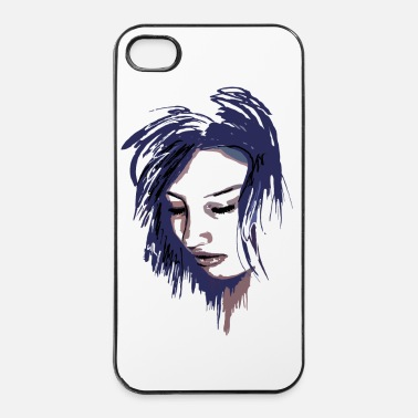 Glamour Lady Face - Coque rigide iPhone 4/4s