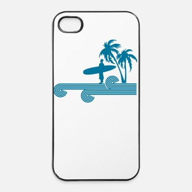 Boarder retro surfer palms - Coque rigide iPhone 4/4s