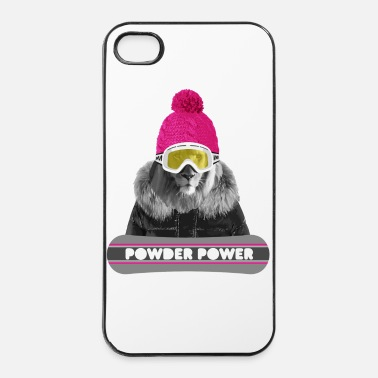 Winter Lion Winter Sports - leeuw - iPhone 4/4s hard case